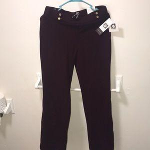 Anne Klein Womens Burgundy Noir pants